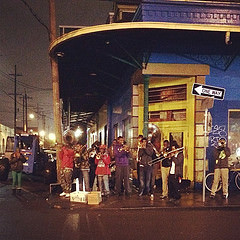 Typical sight on Frenchmen Street